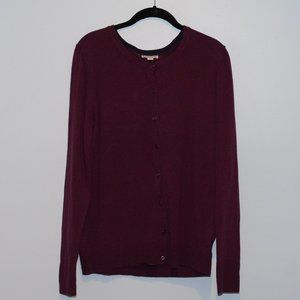 Women's Merona Purple Cardigan Sweater L